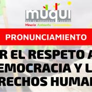 Pronunciamiento por el respeto a la democracia y los derechos humanos