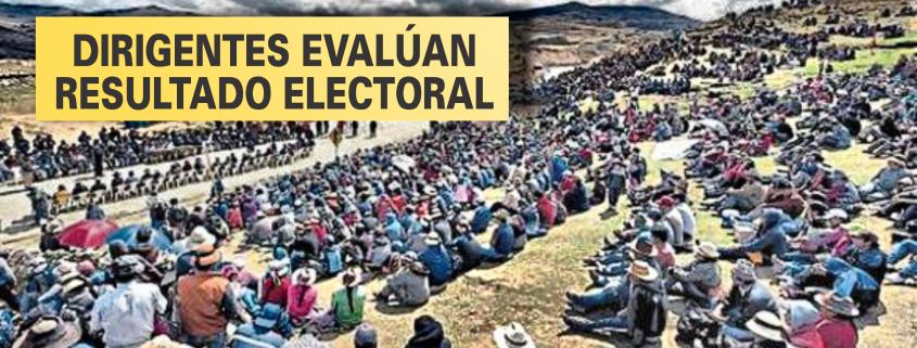 Dirigentes de comunidades de zonas mineras evalúan elecciones 2021