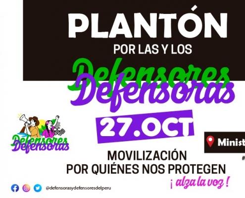 Defensores del Perú convocan movilización